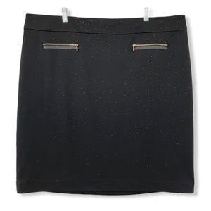 Calvin Klein Pencil Skirt Stretchy Knit Black 22W